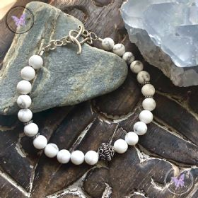 Howlite Bracelet with Feature Silver Bead